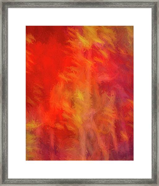 Red Abstract Framed Print