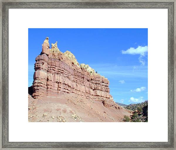 Framed Print featuring the photograph Red And Yellow Fortress Number 2 by Joseph R Luciano