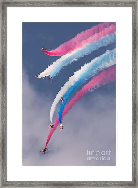 Red Arrows Display Framed Print