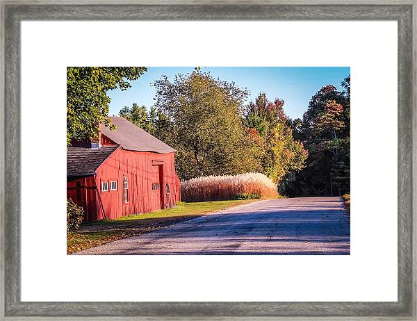 Red Barn In The Country Framed Print