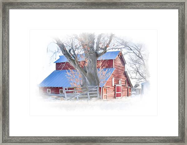 Red Barn On York Drive Framed Print