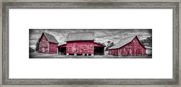 Framed Print featuring the photograph Red Barns At Windsor Castle by Williams-Cairns Photography LLC