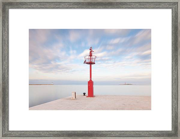 Red Beacon Framed Print