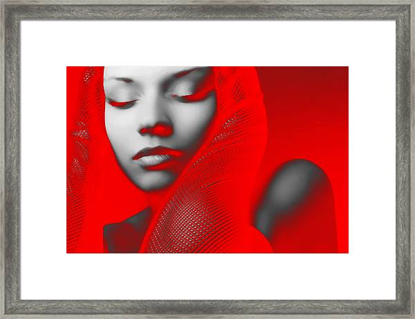 Red Beauty  Framed Print by Naxart Studio