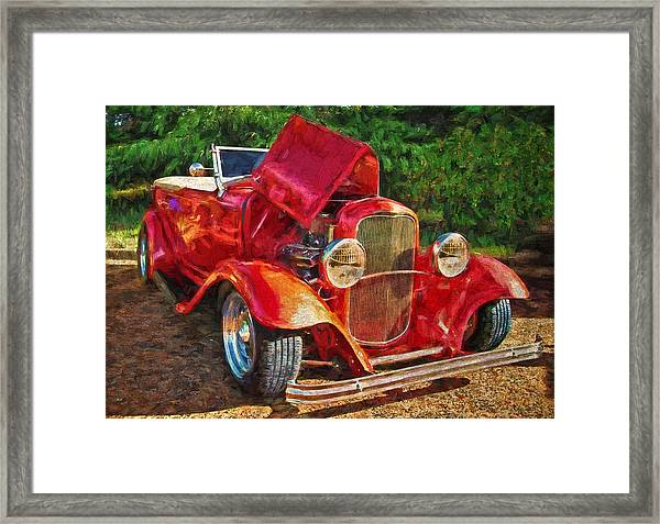 The Red Bell Roadster Framed Print