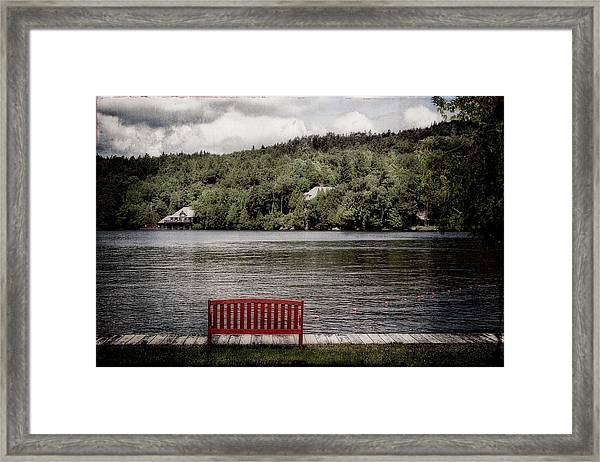 Red Bench Framed Print