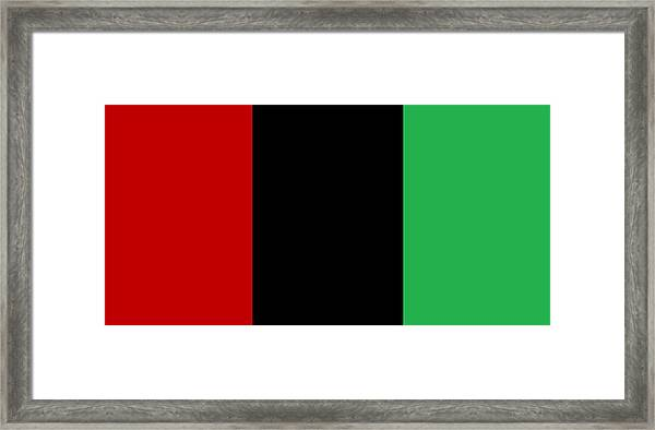 Red Black And Green Framed Print