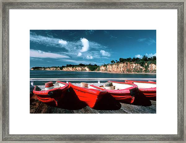 Red Boat Diaries Framed Print