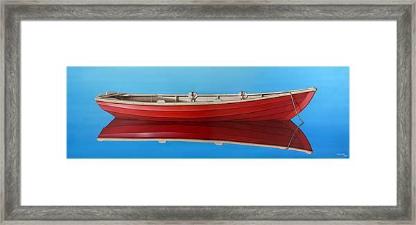 Red Boat Framed Print