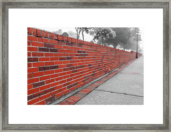 Red Brick Framed Print