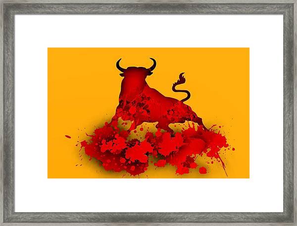 Red Bull.1 Framed Print