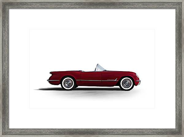 Red C1 Convertible Framed Print