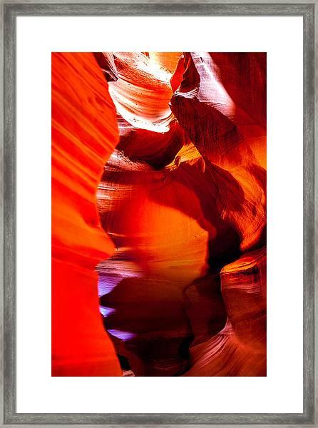 Red Canyon Walls Framed Print