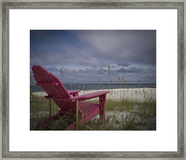 Red Chair View Framed Print