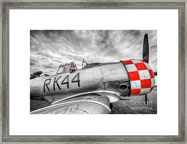 Red Checkers Framed Print