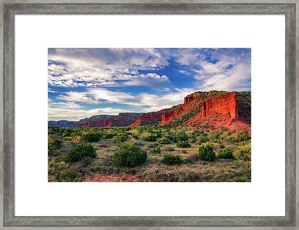 Red Cliffs Of Caprock Canyon Framed Print