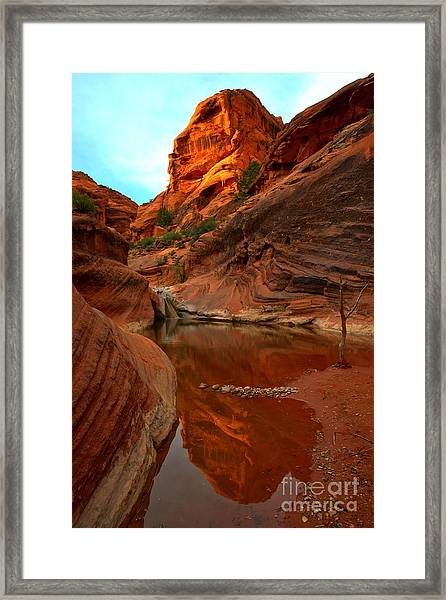 Red Cliffs Reflections Framed Print