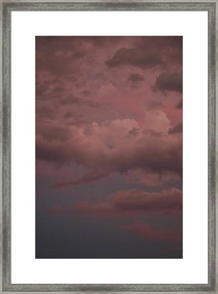 Framed Print featuring the photograph Red Clouds Iv by Dylan Punke