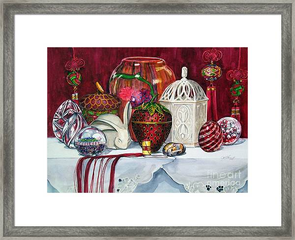 Red Composition No. 4 Framed Print