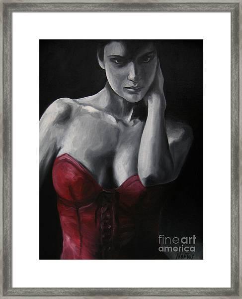 Red Corset Nr.4 Framed Print