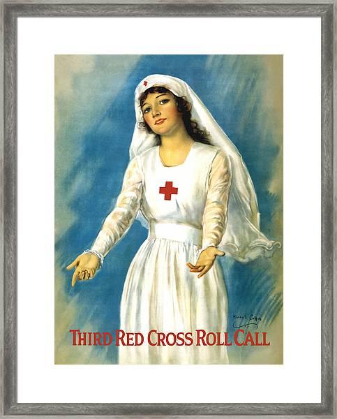 Red Cross Nurse - Ww1 Framed Print