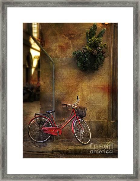 Red Crown Bicycle Framed Print