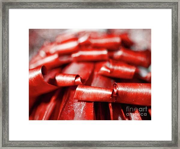 Red Curls Framed Print