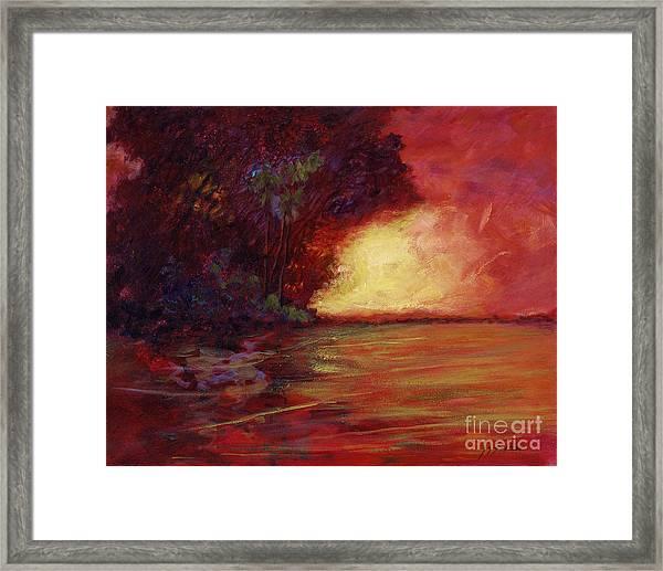 Red Dusk Framed Print
