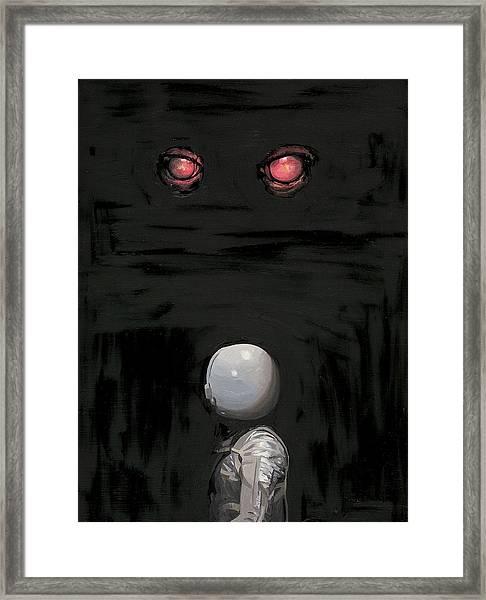 Red Eyes Framed Print