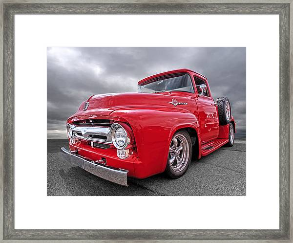Red F-100 Framed Print
