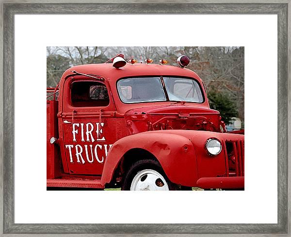 Red Fire Truck Framed Print