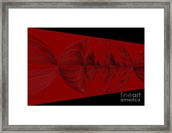 Red And Black Design. Art Framed Print