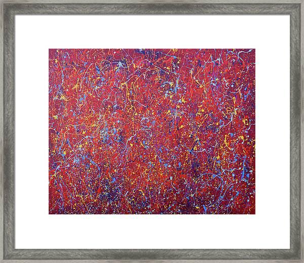 Red Galaxy Framed Print