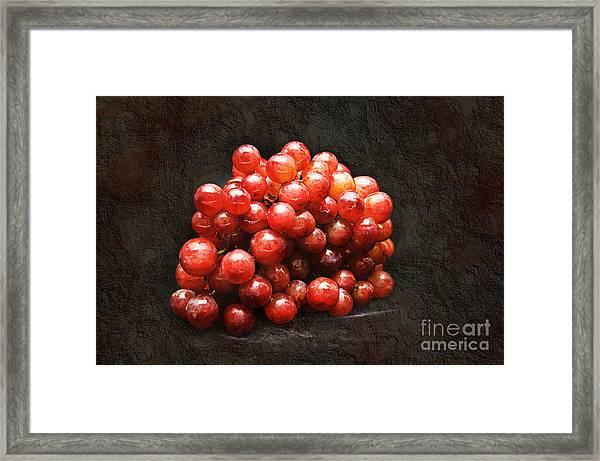 Red Grapes Framed Print