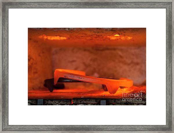 Red Hot Horseshoe Framed Print