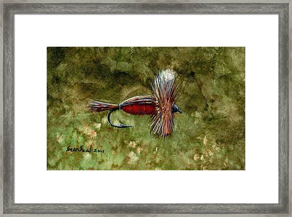 Red Humpy Framed Print
