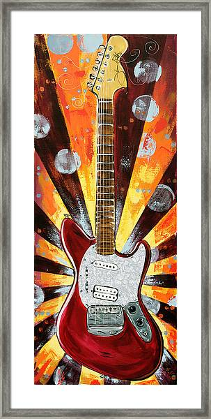 Red Jag-stang Framed Print