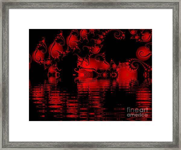 Red Lake Cave Fractal Framed Print