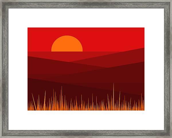 Red Landscape Framed Print