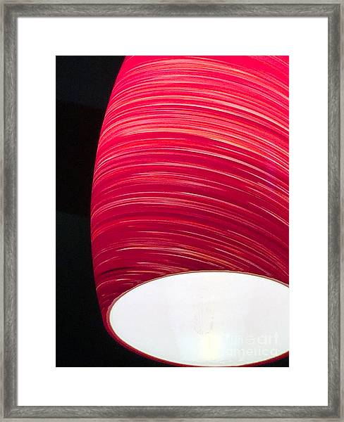 Red Light Cafe Framed Print