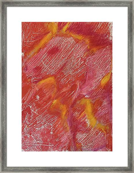 Red Monoprint One Framed Print