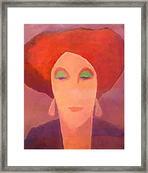 Red Mood Woman Framed Print