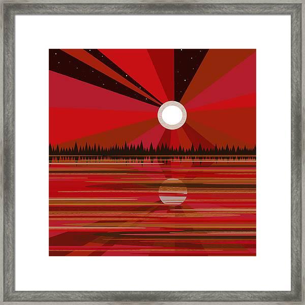 Red Moonshine Framed Print
