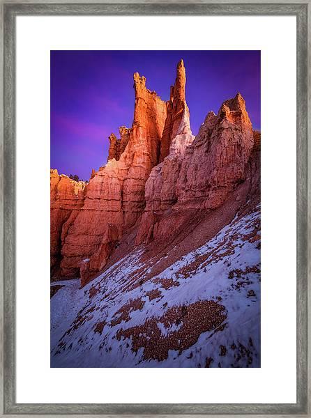 Red Peaks Framed Print