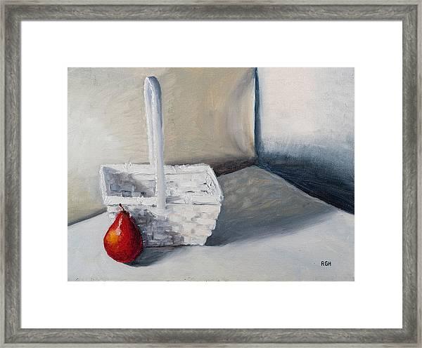 Red Pear Framed Print