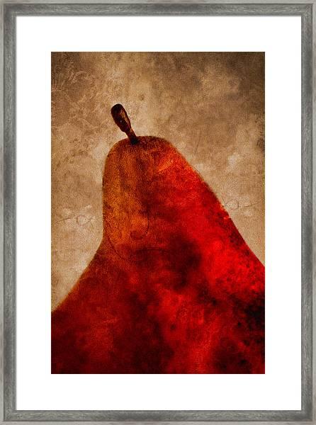 Red Pear II Framed Print