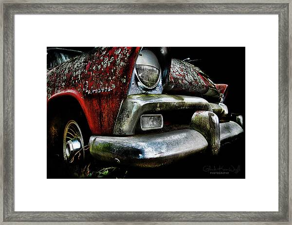Framed Print featuring the photograph Red Plymouth Belvedere by Glenda Wright