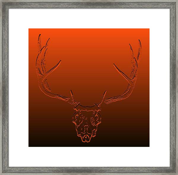 Red Rack Framed Print by Brent Easley