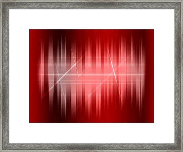 Red Rays Framed Print