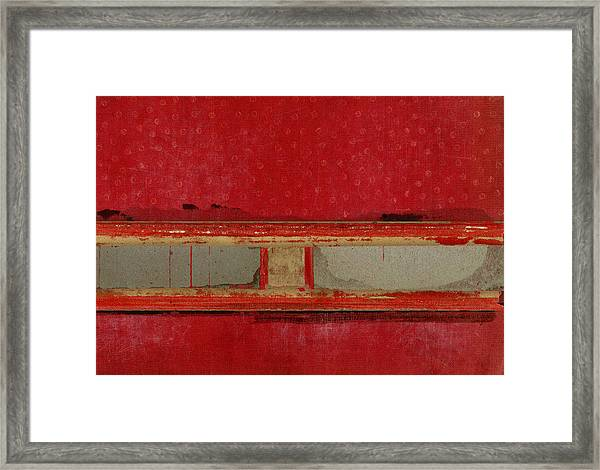 Red Riley Collage Framed Print